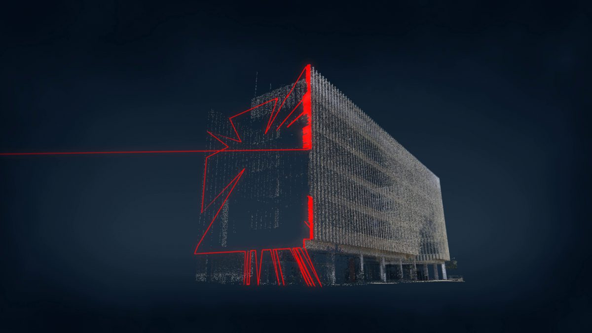 Post Office , animation, frame, pointcloud, sonification