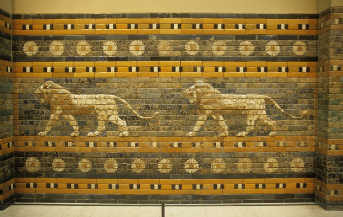 Babylonian wall - At the Pergamon museum, museum, wall