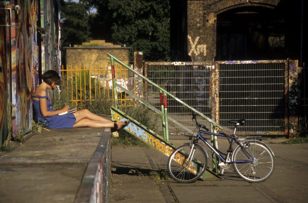 bike, female, relax