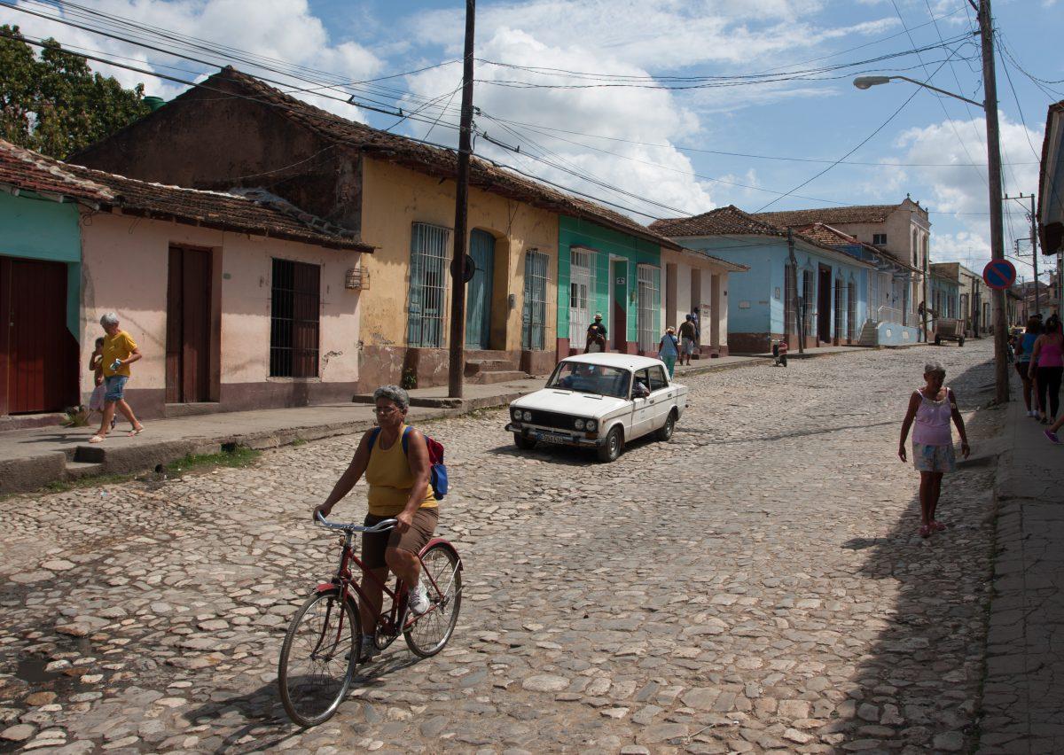 vehicle, car, village