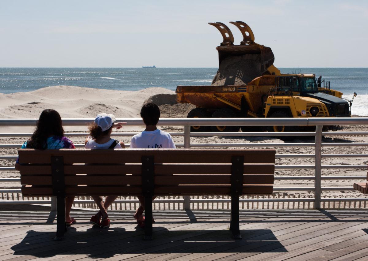 Long Beach, beach, industrial, truck