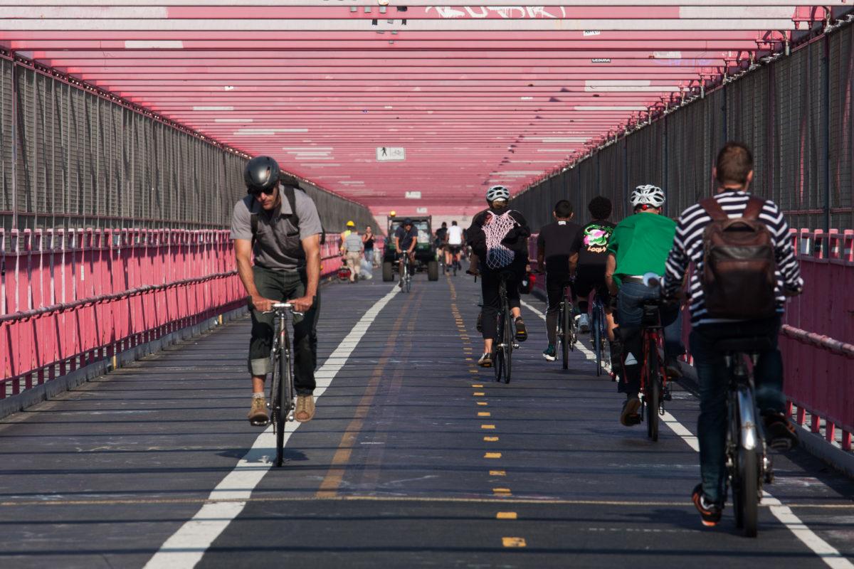 Williamsburg Bridge, bridge, bike
