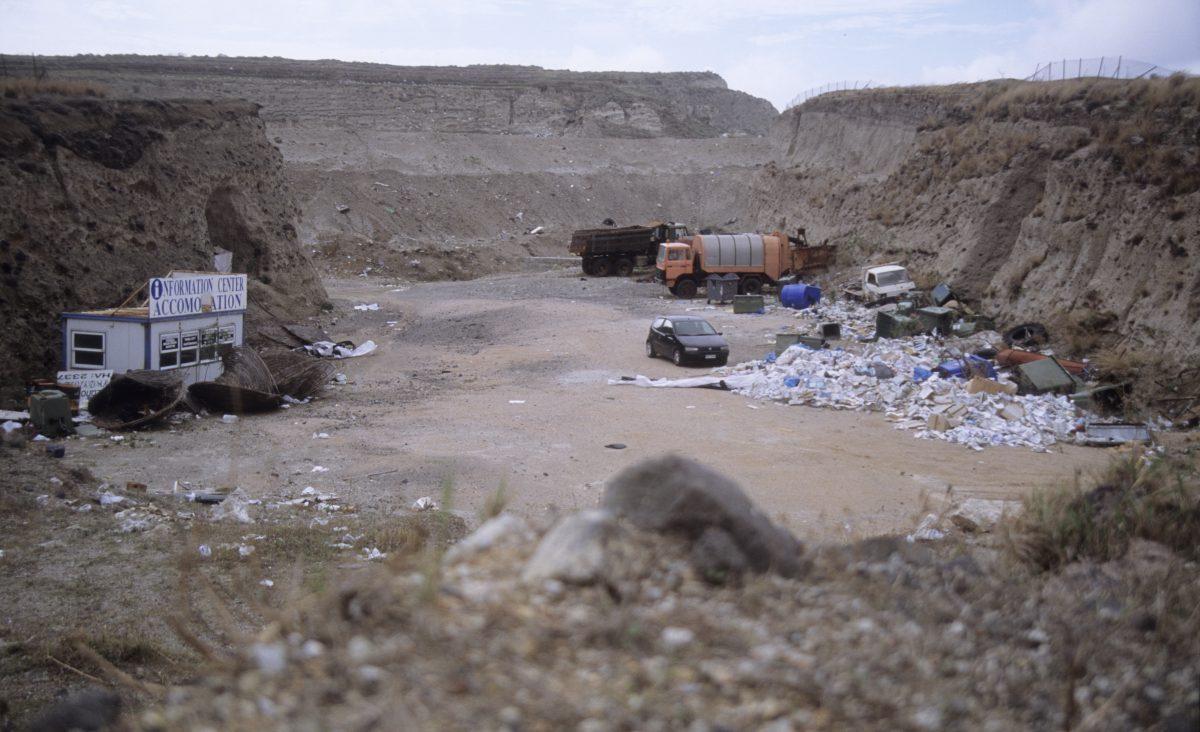 Tourist information, rubbish, decay