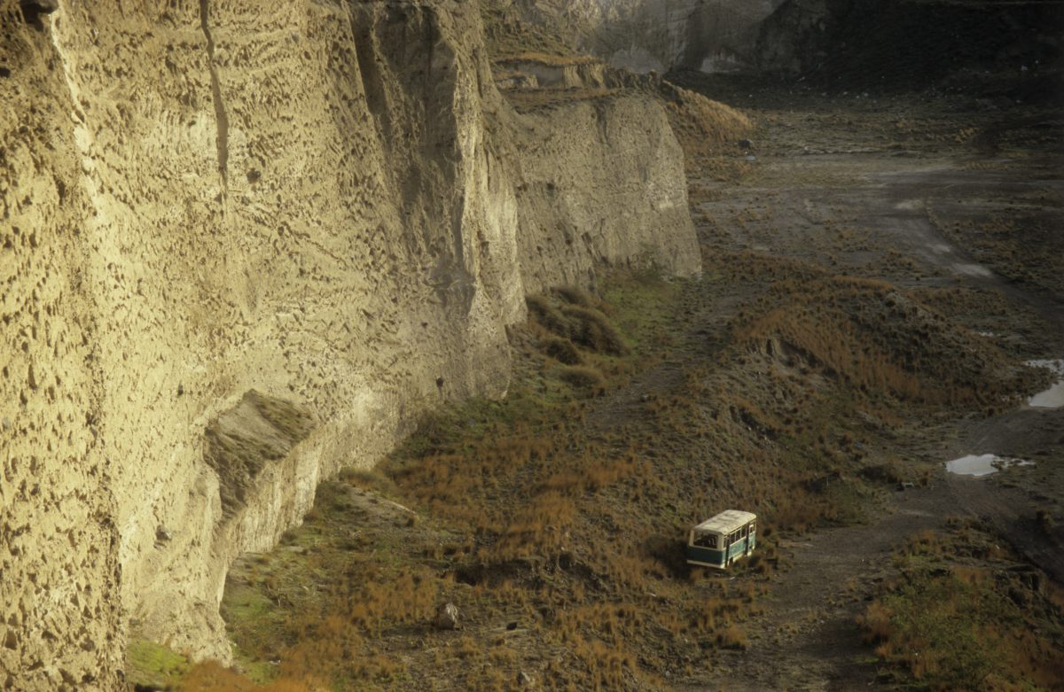 Better days, car, decay, cliff, bus