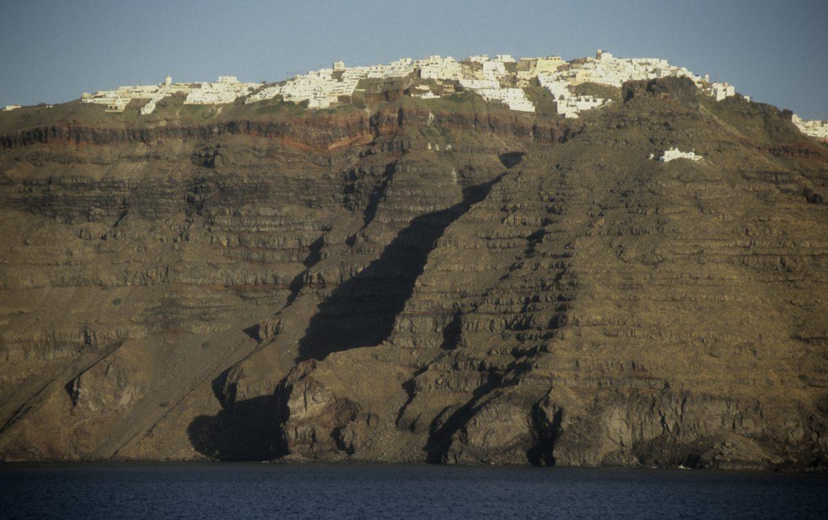 cliff, sea