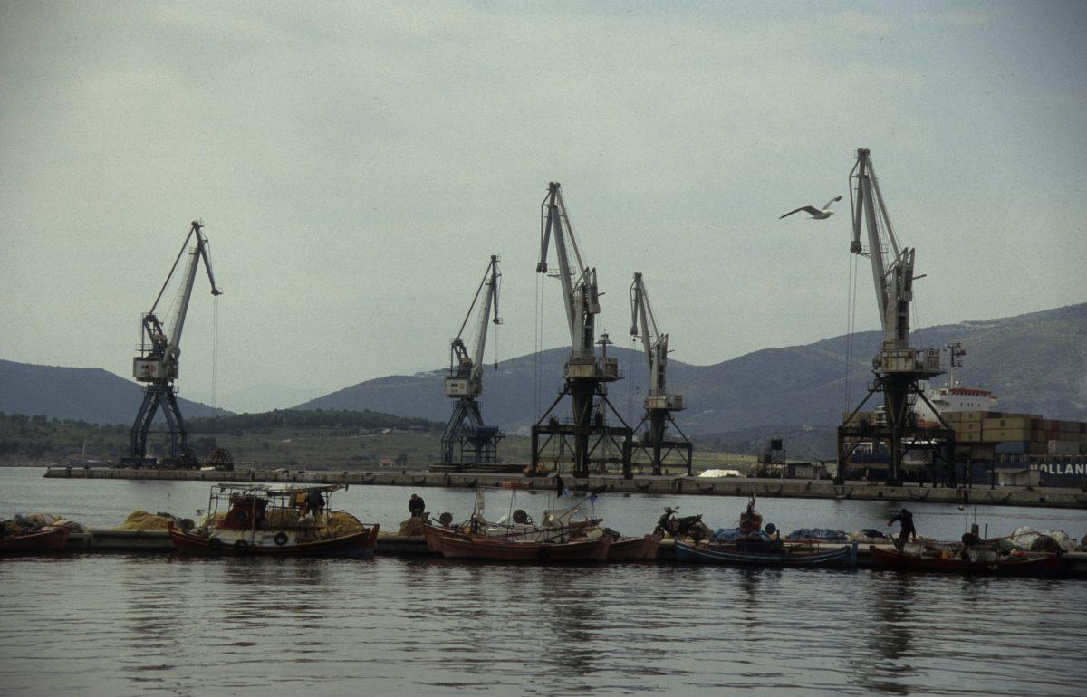 crane, sea, port, boat