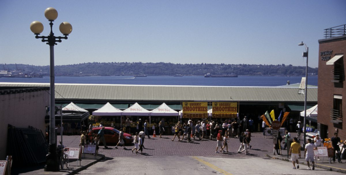 Seattle - at the market, market, people