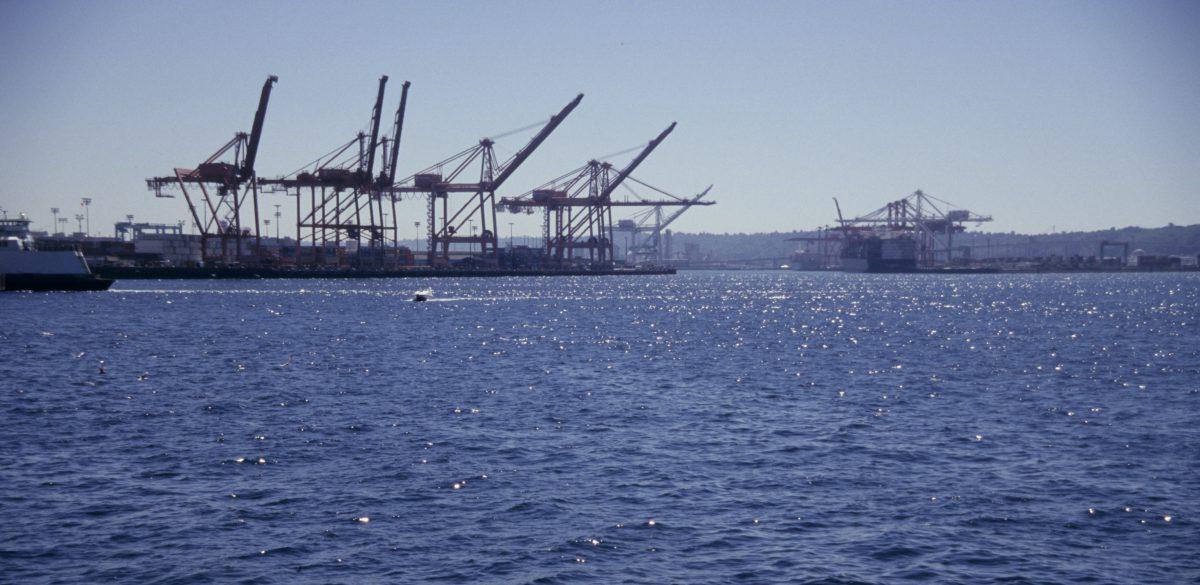 Seattle, sea, crane