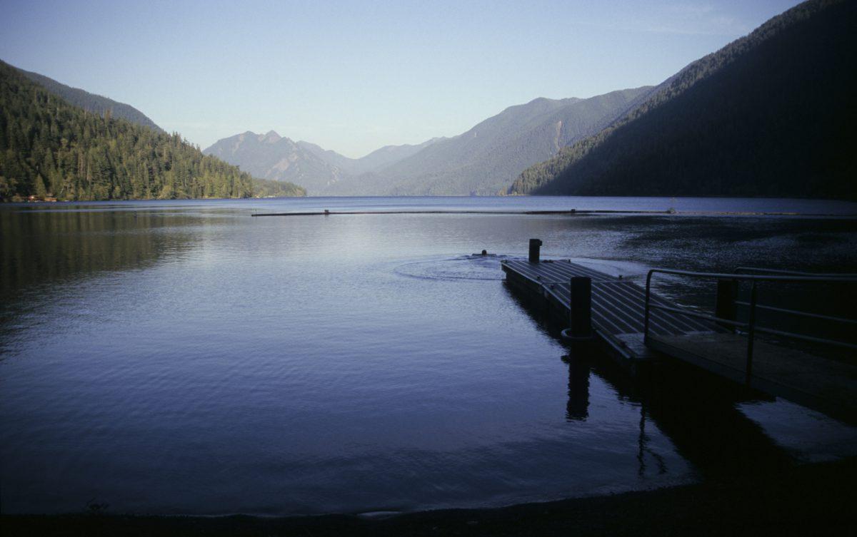 lake Cresent - Joe in the lake, sea, mountain