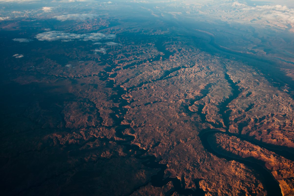 Somehwere in Colorado Plateau, flight, canyon, river