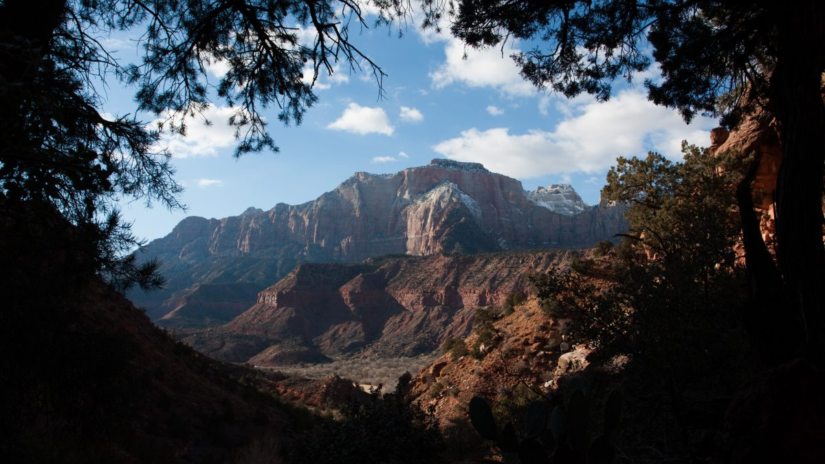 Zion, mountain, view