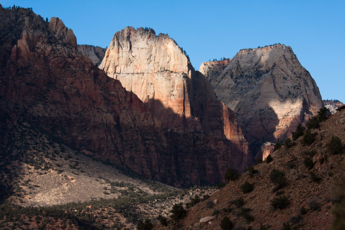Zion, mountain, canyon, rock, view