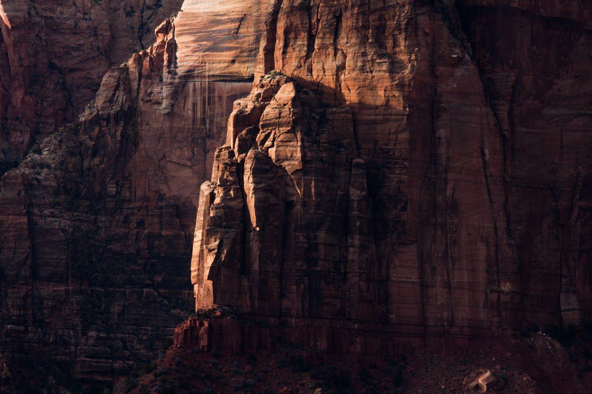 Zion, mountain, rock