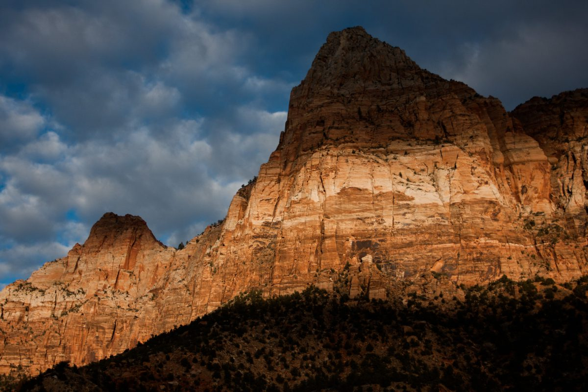 Zion, mountain, rock