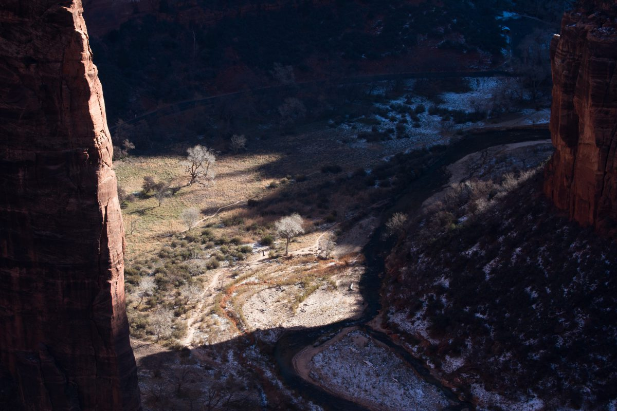 Zion - Angel's Landing, mountain, canyon, view
