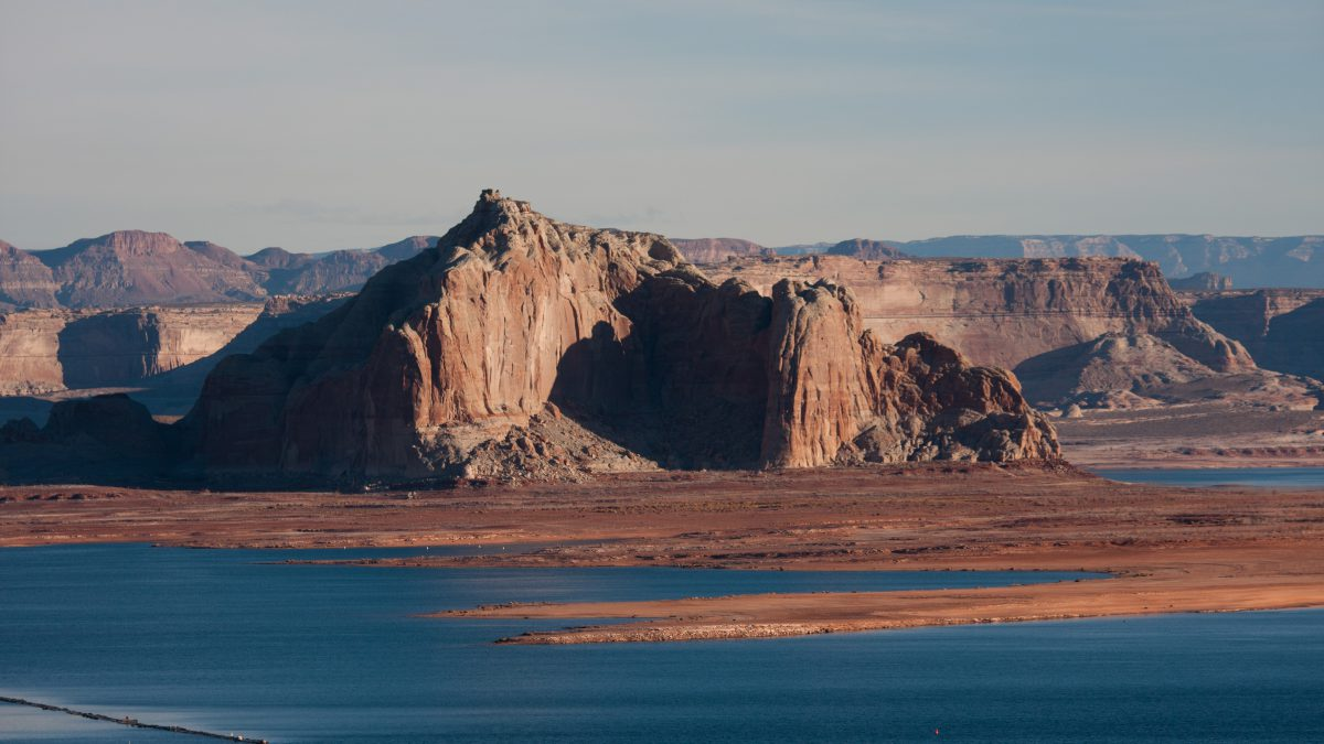 Lake Powell, rock, view, lake