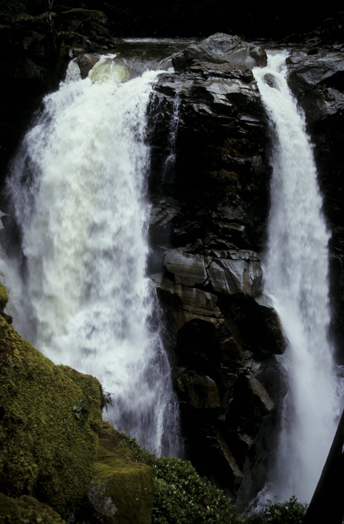 Waterfall - by mount Baker, river, waterfall