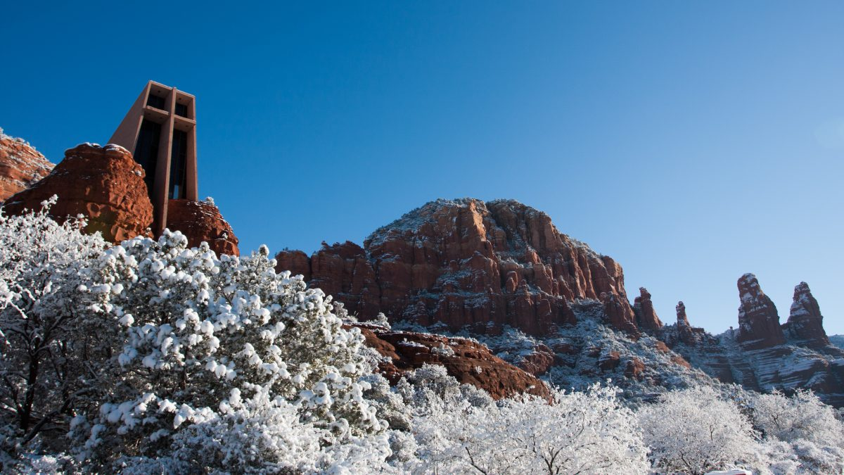 Sedona - Chapel of the Holy Cross, mountain, landmark