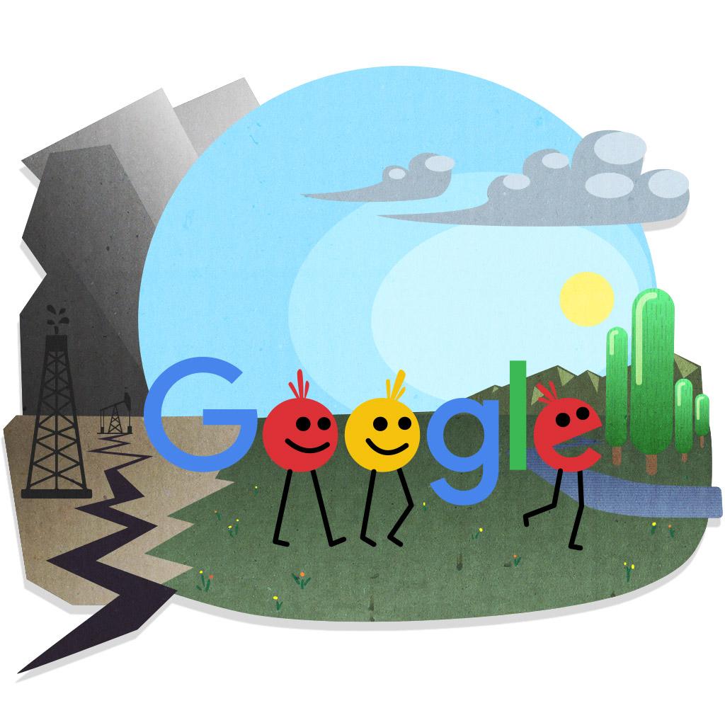 Extinction Rebellion - Fake Google doodle, ch3, illustration, digital