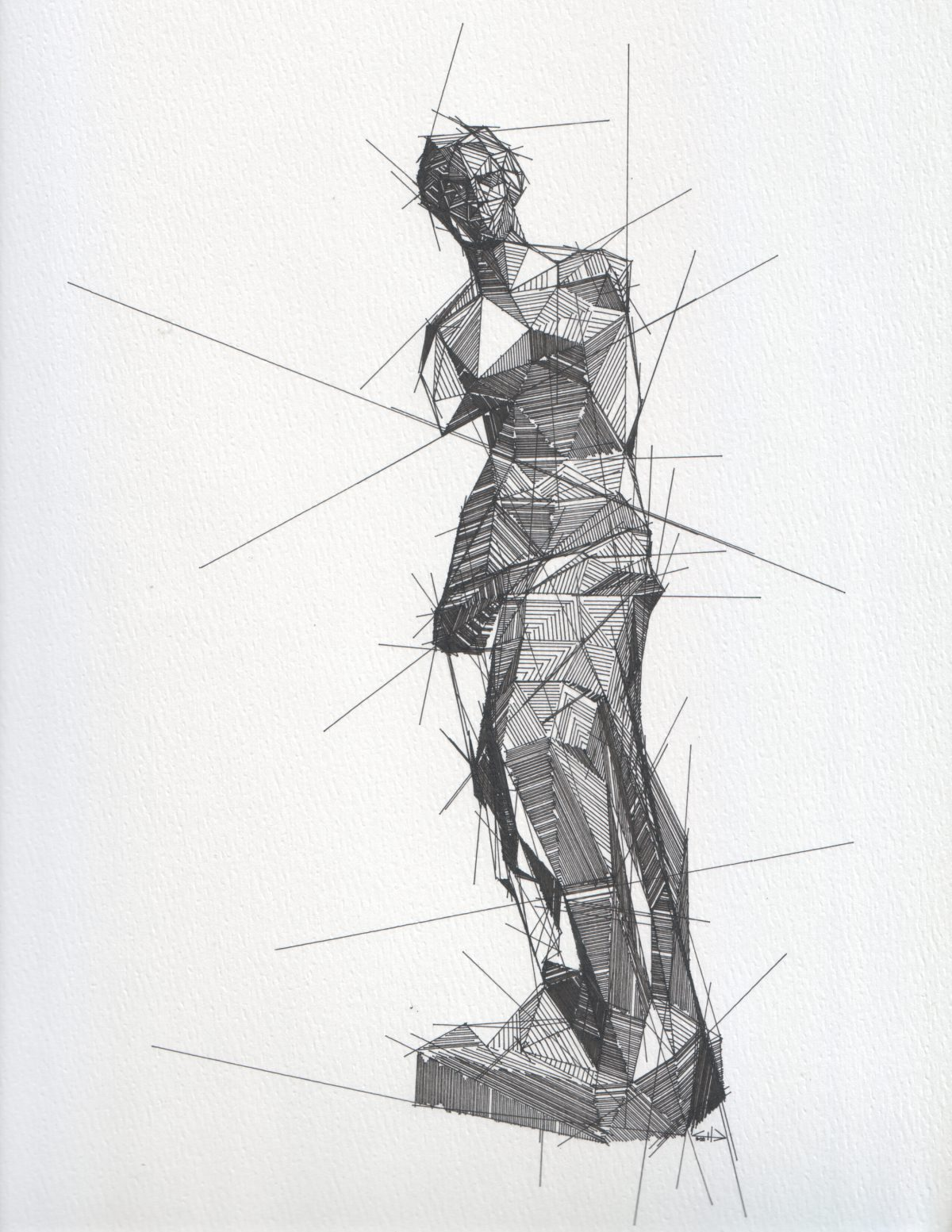 Venus de Milo - 23x30cm - Plotter drawing