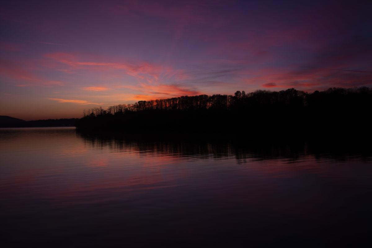 Hudson River, sunset, river