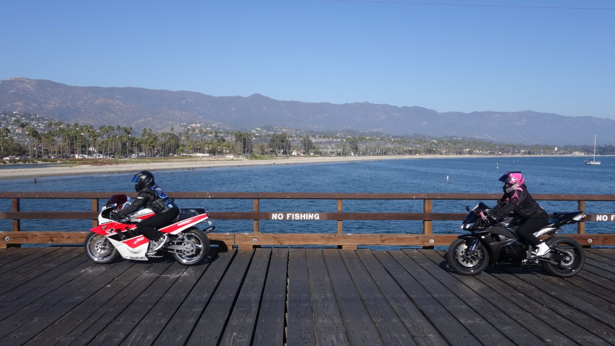 Cycling tour - Vancouver to LA - Bikers, motorbike