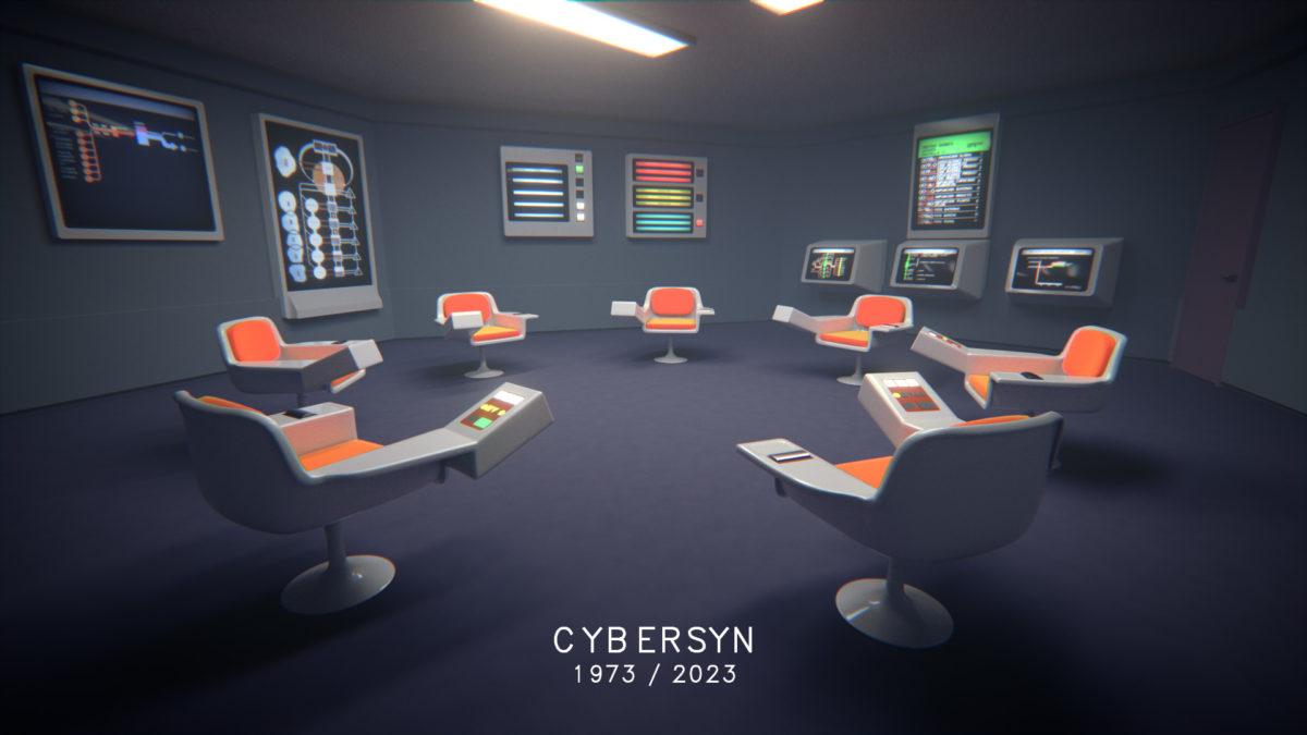 Cybersyn 1973/2023 - a work by Bassam El Baroni and Constantinos Miltiades with Georgios Cherouvim and Gerriet K. Sharma., ch3, animation, cg, render, still