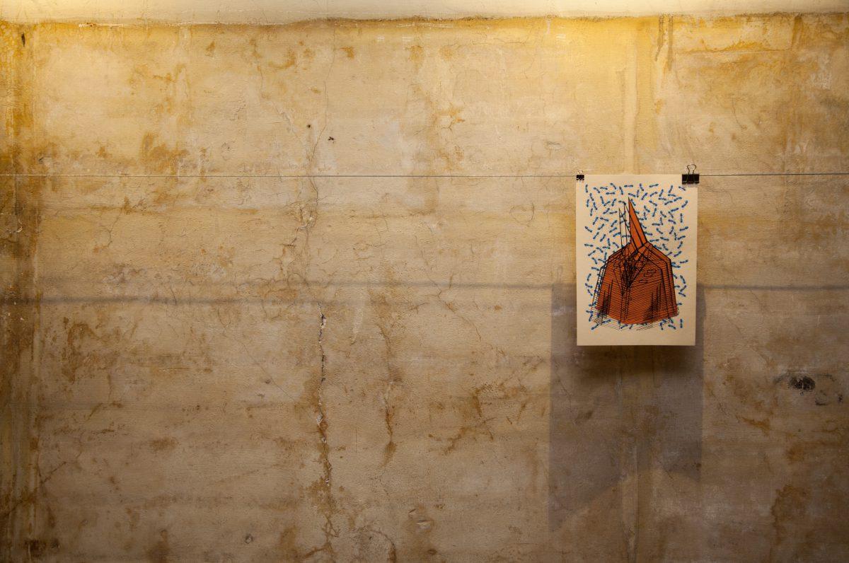Binary Speech, exhibition, wall, silkscreen, ch3